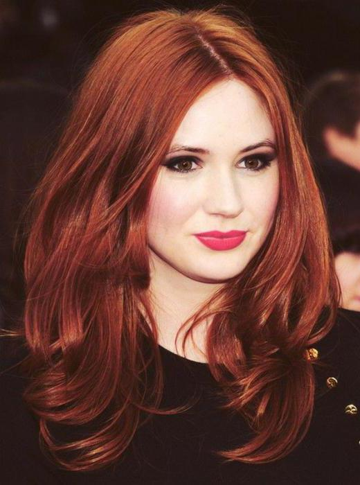 Цвет волос рыжий оттенки