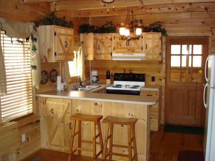 Дизайн на дачной кухне своими руками