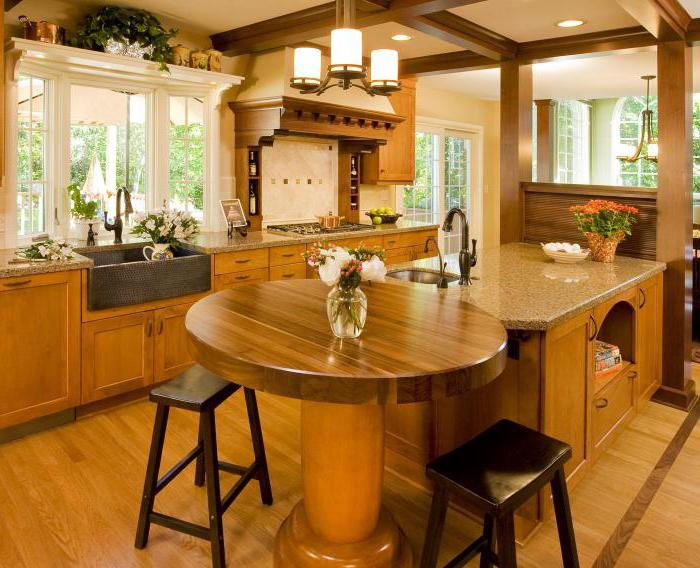 kitchens in wooden houses photo