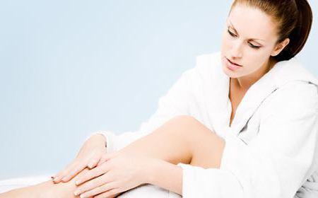 как убрать жир с коленей массажем