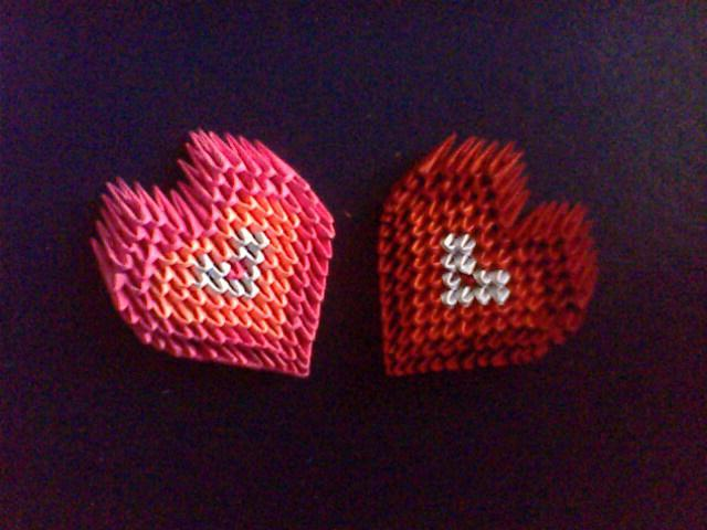 Оригами своими руками сердце фото 675