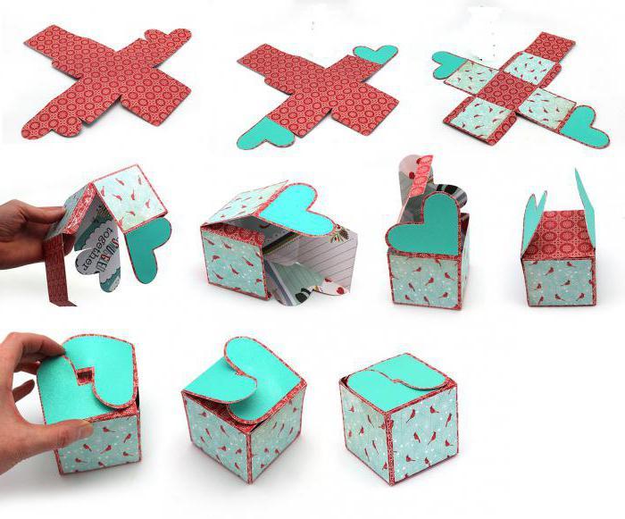 Сделать коробочку с крышкой для подарка своими руками