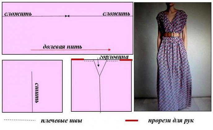 Сшить платье из прямоугольника