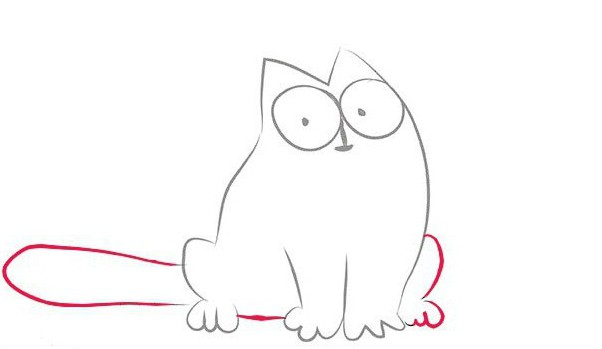 Мультик про кота рисованного карандашом
