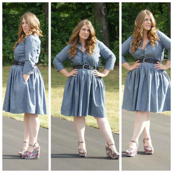 Модели летних платьев для полных