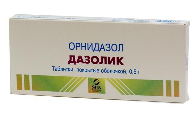 dazolik with giardiasis