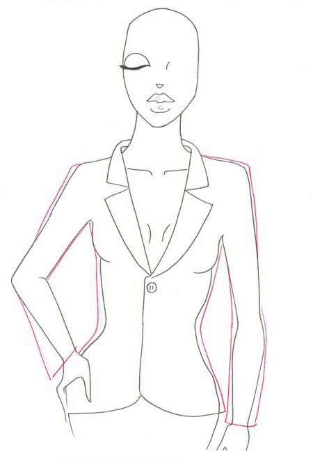 как рисовать одежду карандашом