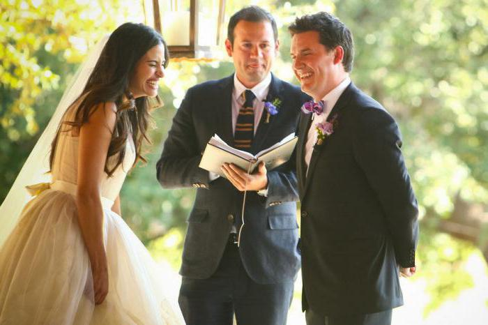comic oath of the bride and groom