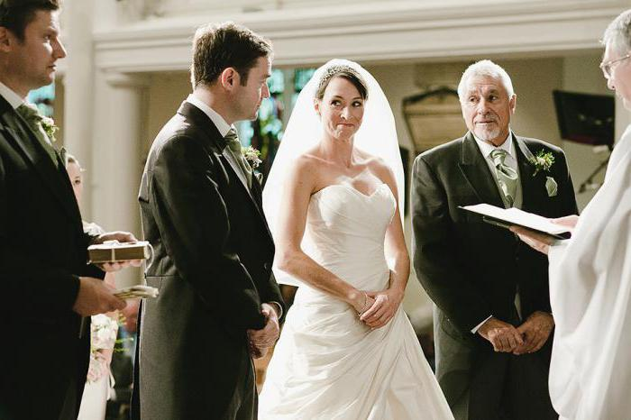 wedding vows of the bride and groom