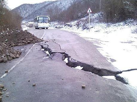 road to Shaumyan Pass