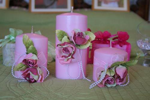 свадебные свечи мастер класс