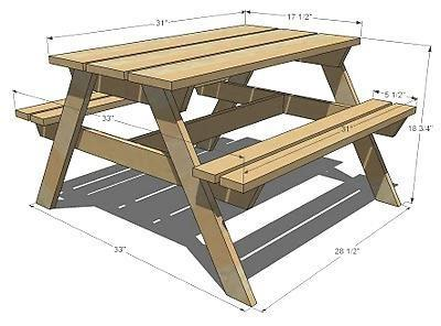 Стол для пикника своими руками