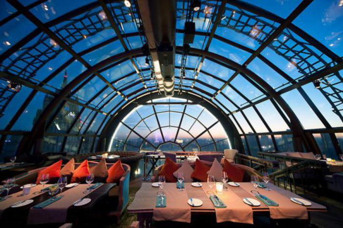 cafe in Moscow on the roof