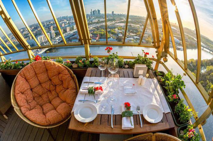 cafe on the roof in Moscow