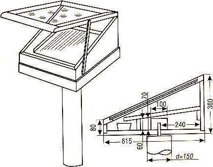 Как сделать солнечную воскотопку своими руками чертежи
