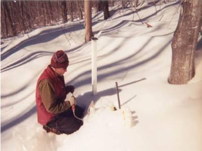 what is the depth of soil freezing in the Moscow region