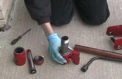 ремонт подкатного гидравлического домкрата своими руками