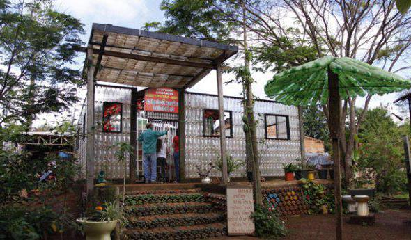 how to build a house from plastic bottles with your own hands