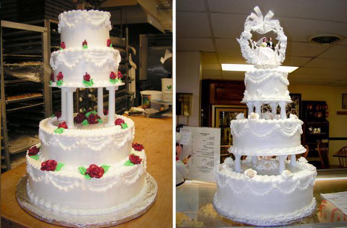 Трехэтажный торт поэтапно с фото