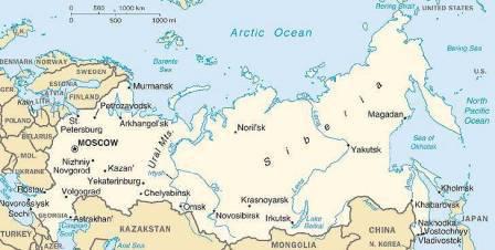 какие моря омывают россию