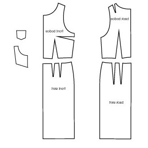 платье карандаш выкройка