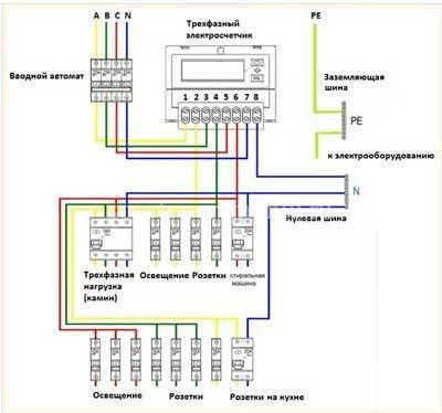 схема электросчетчика меркурии