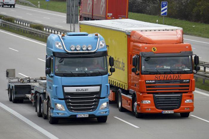Габаритные размеры грузовых автомобилей