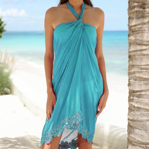Парео для пляжа: учимся правильно шить и завязывать