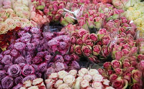 Стоимость цветов на рижском рынке