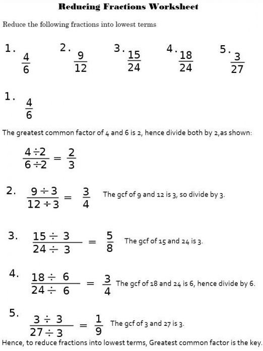 how to reduce the fraction