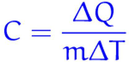 specific heat formula