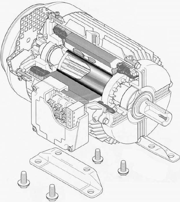 principle of operation of asynchronous electric motor