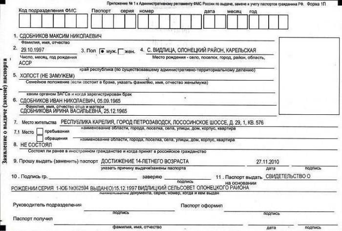 Получение паспорта в 14 лет по временной регистрации форма 3 временной регистрации в москве