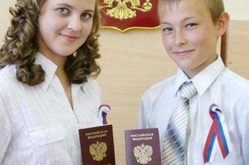passport of the Russian Federation at the age of 14