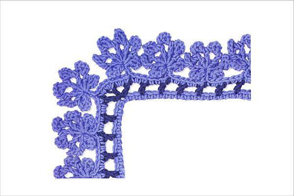 crochet the edges of the crochet pattern