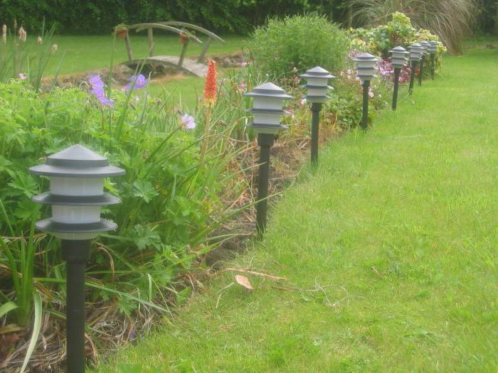 Outdoor decorative lamps on solar batteries