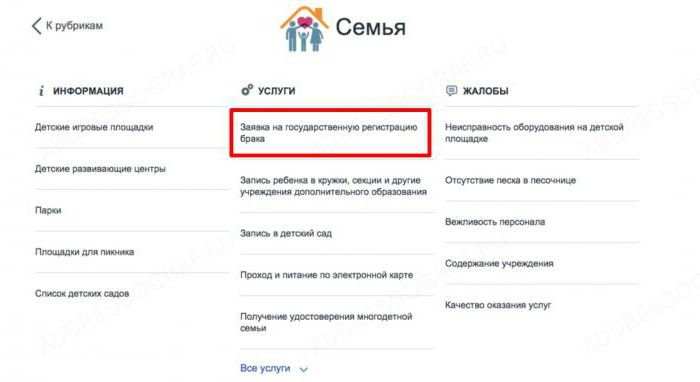 how to apply to a registry office via the Internet in Samara