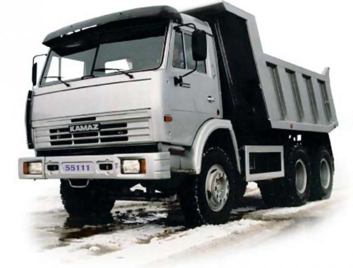 Технические характеристики самосвала КамАЗ 55111