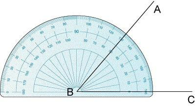 What is equal to the unfolded angle