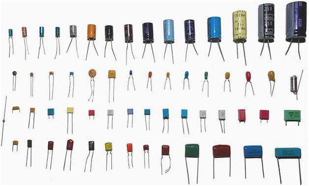 types of different capacitors