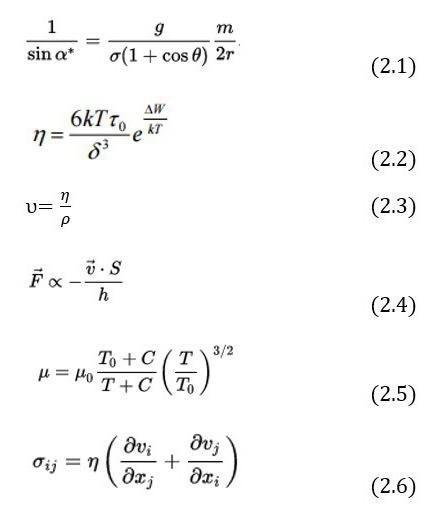 Формула сазерленда для вязкости