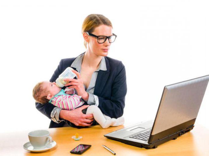 Отпуск по уходу за ребенком: образец заявления