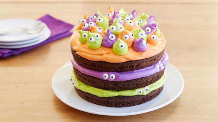 cake for Halloween recipe with a photo with your own hands