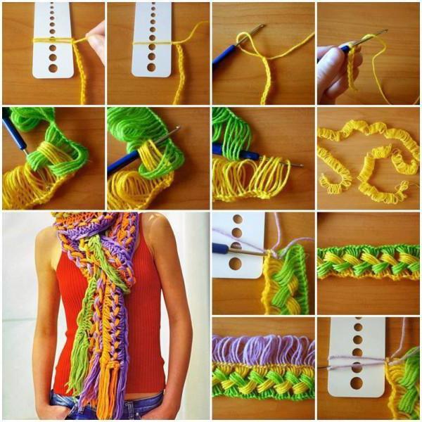 crocheted loop