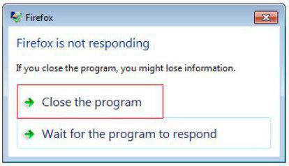 программа не отвечает как закрыть зависшую программу