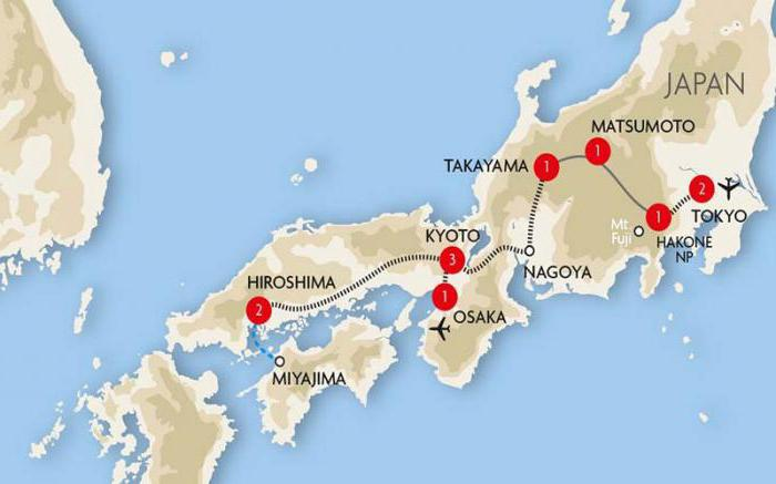 where is japan on the map