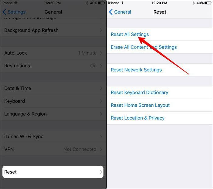 Как сделать сброс на айфоне 4s если забыл пароль