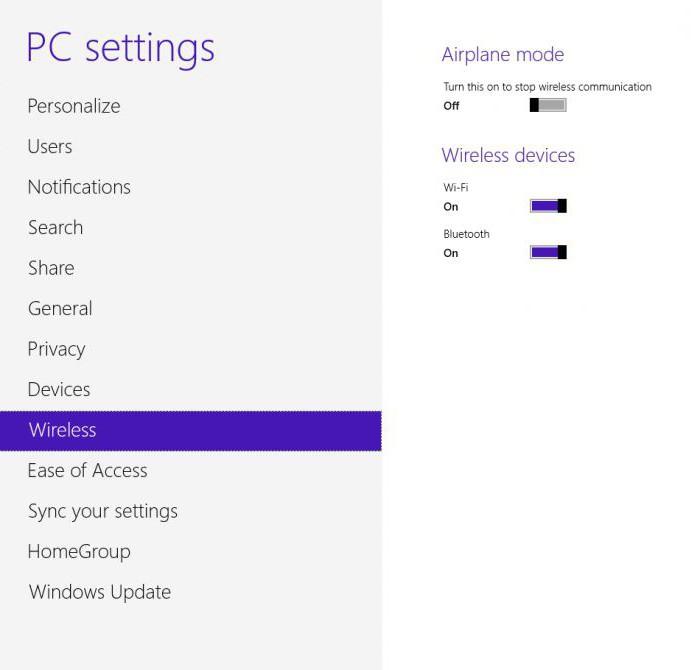 как найти блютуз на ноутбуке windows 8