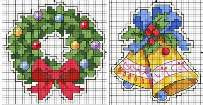 Схема вышивки крестиком для нового года