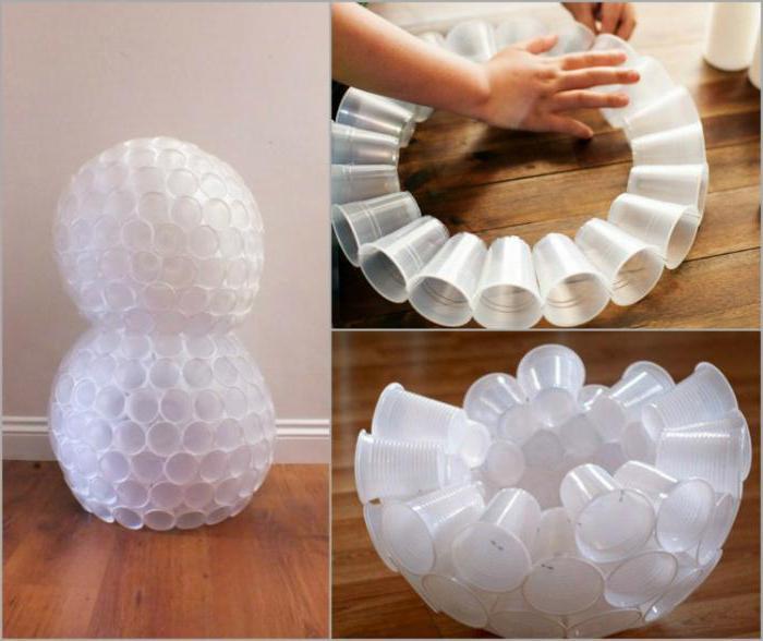 Поделка из пластиковых стаканчиков пошагово